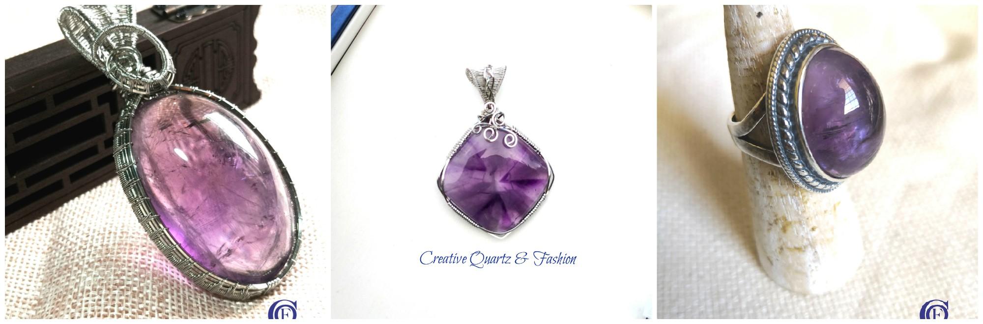 佩戴高贵典雅的紫水晶,可衬托出女性气质。不管你想要一款紫水晶项链或手链,都可到 Creative Quartz & Fashion选购。