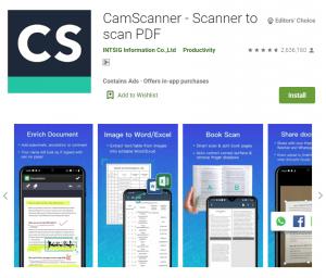 上班族必备:4个实用手机办公App: CamScanner 扫描文档